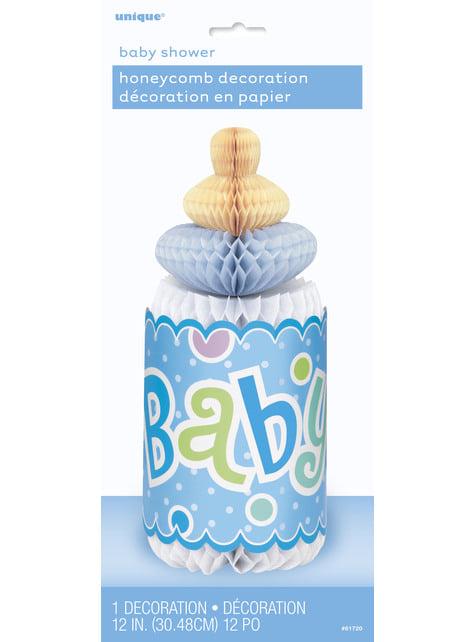 Babyflaschen Tisch-Deko blau - Baby Shower