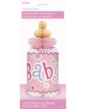 Pink baby flaske bord dekoration- Baby Shower