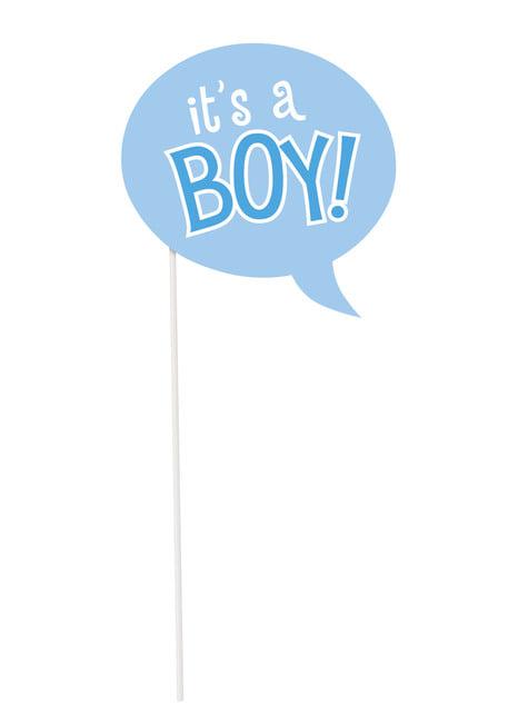 Zestaw 10 rekwizytów do zdjęć z okazji Baby Shower