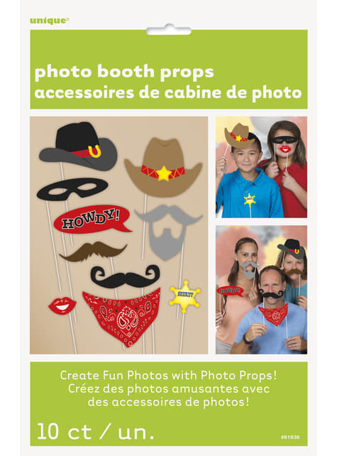 10 accessoires pour Photo booth Far West - Western Party