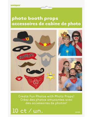 10 accessoires pour Photo booth Far West - Western Party
