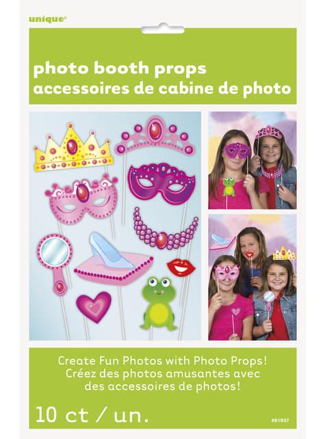 10 accesorios photocall - Princess - decoración de fiesta