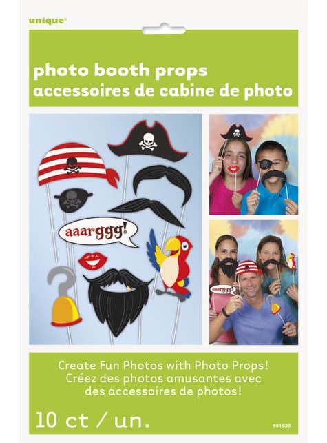 10 accesorios photocall para fiesta pirata - decoración de fiesta