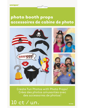 Set 10 komplement till photocall för piratfest