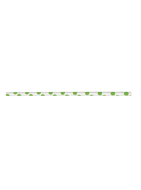 10 pajitas de topos verde lima