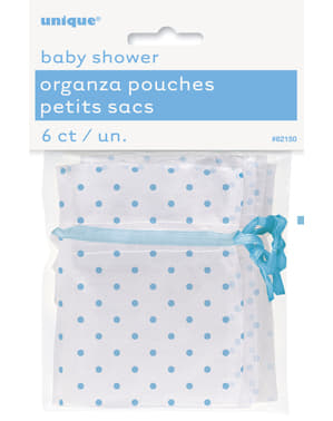 Witte tas met blauwe stippen - Baby Shower