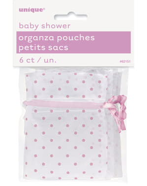White bag with pink spots - Baby Shower