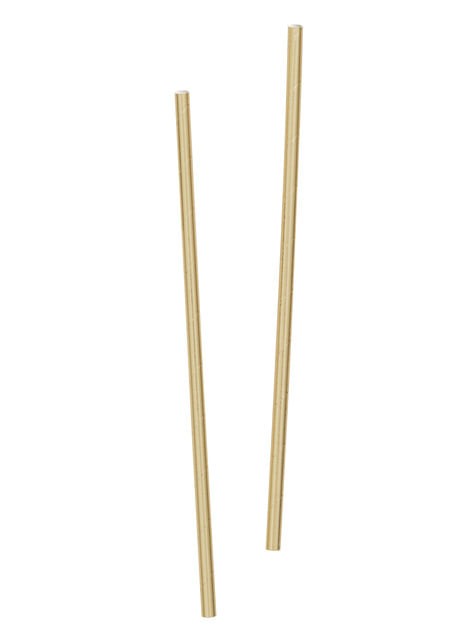 10 pailles dorées - Gamme couleur unie