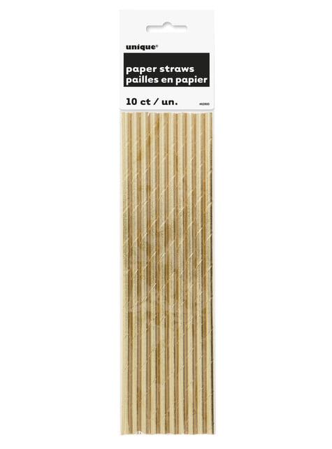 10 gold straws - Basic Colours Line