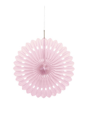 Decorative paper fan in light pink - Basic Colours Line