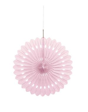 Rosace en papier rose clair - Gamme couleur unie