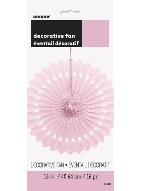 Abanico de papel decorativo rosa claro - Línea Colores Básicos