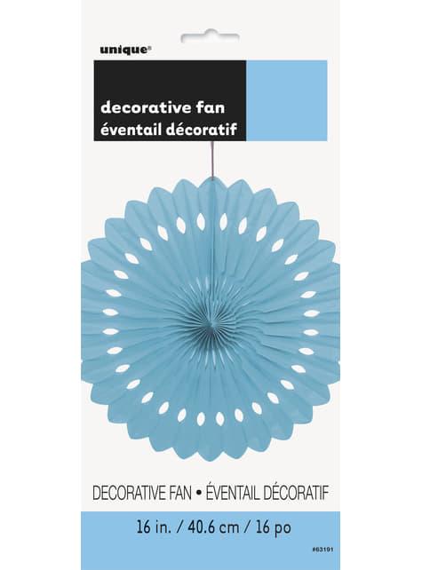 Abanico de papel decorativo azul cielo - Línea Colores Básicos