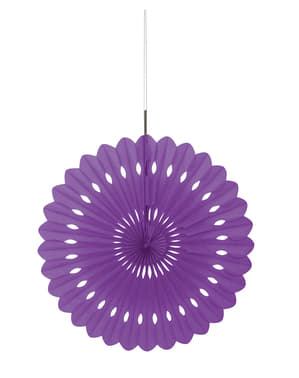 Fioletowy papierowy wachlarz dekoracyjny - Linia kolorów podstawowych