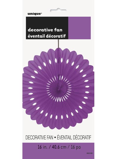 Abanico de papel decorativo morado - Línea Colores Básicos - para tus fiestas