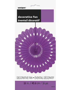 Decorative paper fan in purple - Basic Colours Line