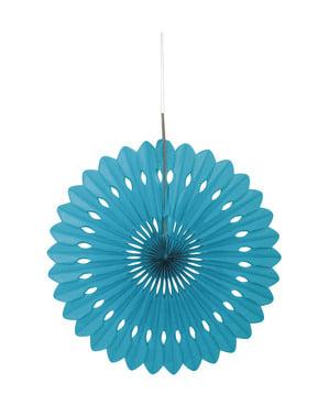 Deko-Fächer aus Papier türkis - Basic-Farben Kollektion