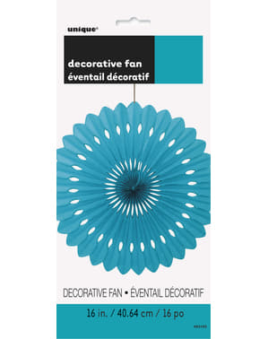Decorative paper fan in aquamarine green - Basic Colours Line