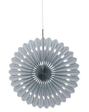 Koristeellinen paperiviuhka hopeisena - Perusvärilinja