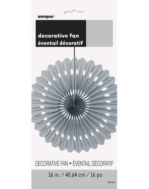 Decorative paper fan in silver - Basic Colours Line