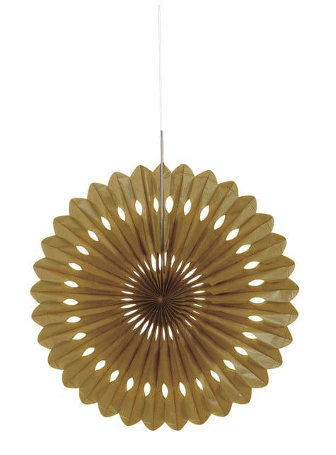 Leque de papel decorativo dourado - Linha Cores Básicas