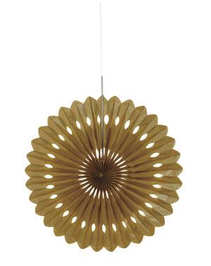 Złoty papierowy wachlarz dekoracyjny - Linia kolorów podstawowych
