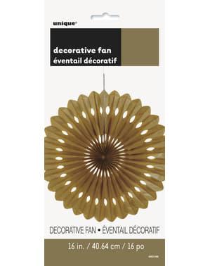 Abanico de papel decorativo dorado - Línea Colores Básicos