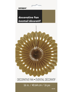 Decorative paper fan in gold - Basic Colours Line