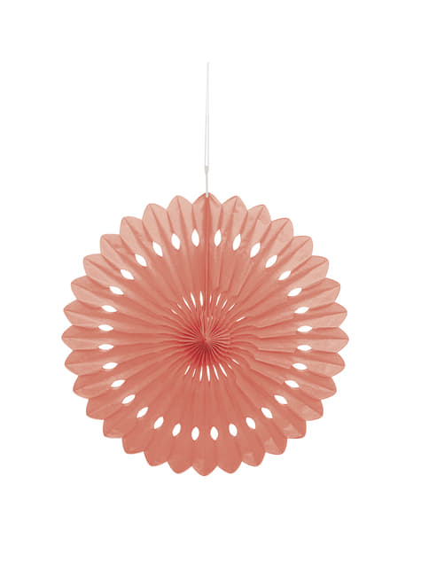 Abanico de papel decorativo coral - Línea Colores Básicos