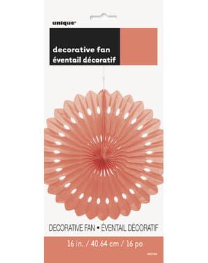 Decoratieve papieren waaier in het coral - Basiskleuren collectie