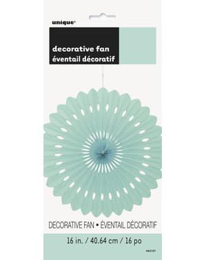 Decoratieve papieren waaier in het muntgroen - Basiskleuren collectie