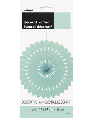 Decorative paper fan in mint green - Basic Colours Line