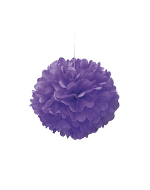 Decoratieve Neon Paarse Pompon - Basis Kleuren Lijn
