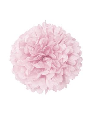 Pompon décoration rose clair - Gamme couleur unie