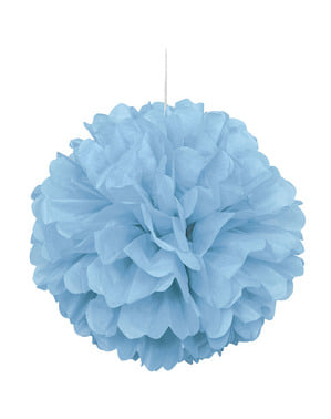 Pompom decorativo azul céu - Linha Cores Básicas