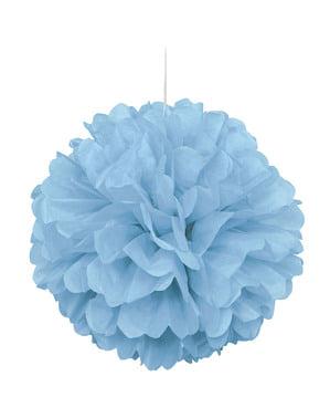 Pompon décoration bleu ciel - Gamme couleur unie