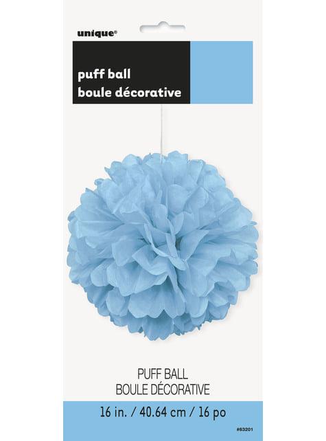 Pompón decorativo azul cielo - Línea Colores Básicos - para tus fiestas