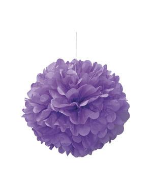 Decoratieve Paarse Pompon - Basis Kleuren Lijn