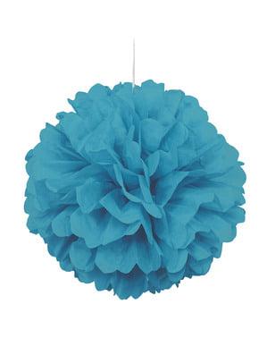Pompon décoration Aigue-marine - Gamme couleur unie