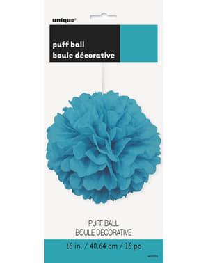 Decoratieve Turquoise Pompon - Basis Kleuren Lijn