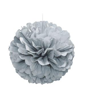 Pompon décoration argenté - Gamme couleur unie
