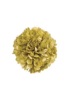 Pompon décoration doré - Gamme couleur unie