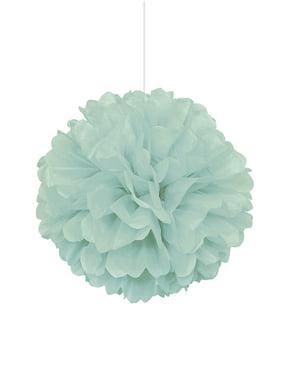 Miętowo-zielony dekoracyjny pompon – Linia kolorów podstawowych