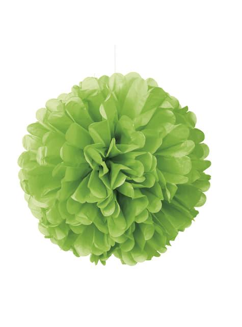 Pompón decorativo verde lima neón - Línea Colores Básicos