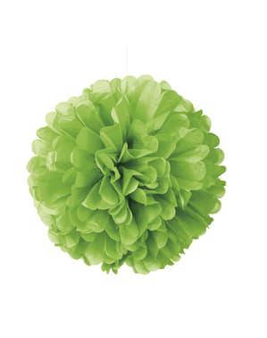 Pompon décoration vert citron fluo - Gamme couleur unie