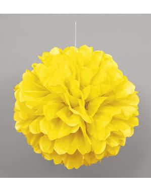 Decoratieve Neon Gele Pompon - Basis Kleuren Lijn
