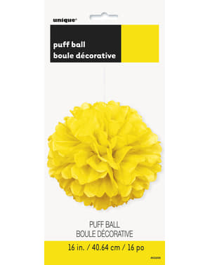 Decorative Neon Yellow Pom-Pom - Basic Colours Line