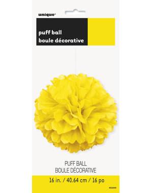Pompon décoration jaune fluo - Gamme couleur unie