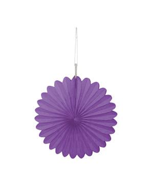 3 fioletowe papierowe wachlarze dekoracyjne - Linia kolorów podstawowych