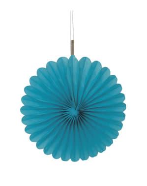 Комплект от 3 аквамаринови декоративни вентилатора - Line Basic Colors